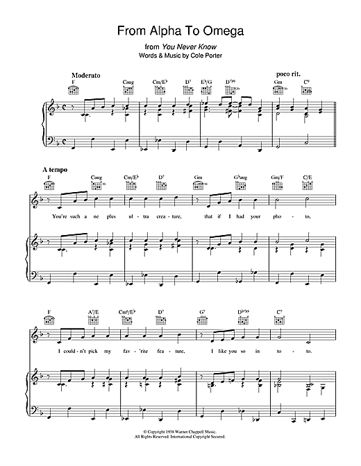 From Alpha To Omega Sheet Music