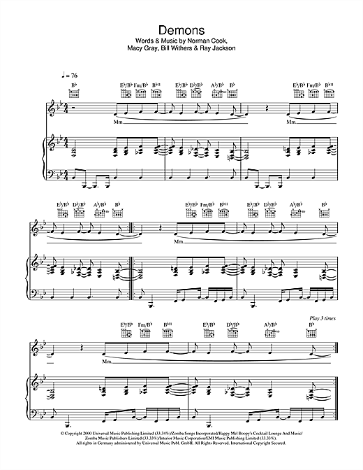 Demons Sheet Music