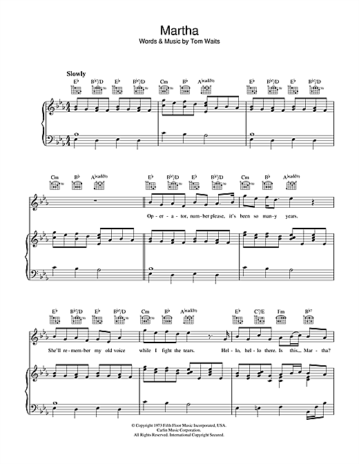 Martha Sheet Music
