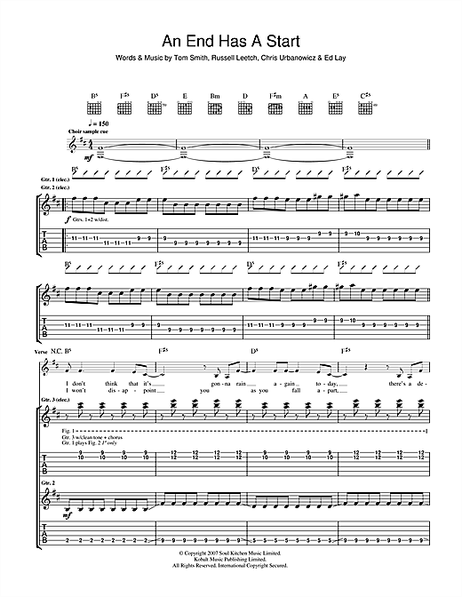 An End Has A Start Sheet Music