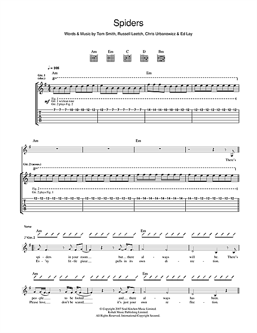 Spiders Sheet Music