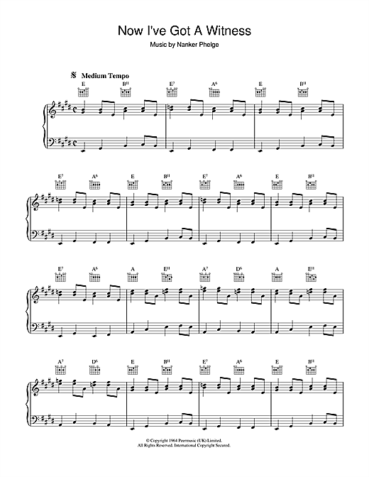 Partition piano Now I've Got A Witness de The Rolling Stones - Piano Solo