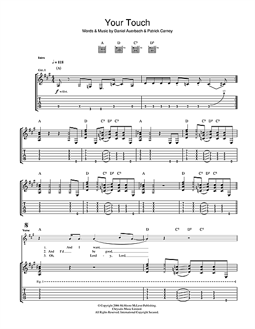 Your Touch Sheet Music