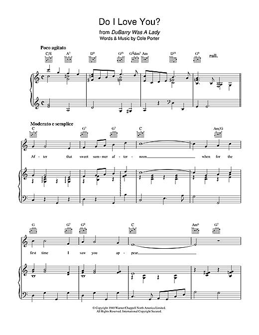 Do I Love You? Sheet Music