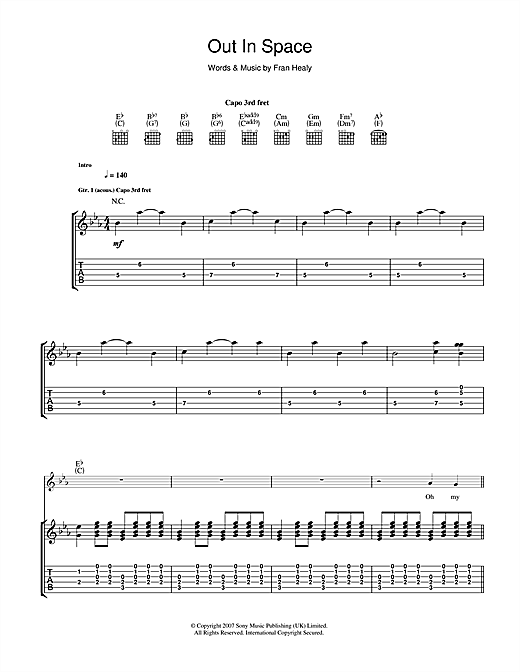 Out In Space Sheet Music