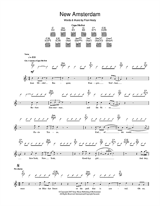 New Amsterdam Sheet Music