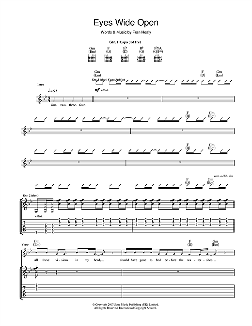 Eyes Wide Open Sheet Music