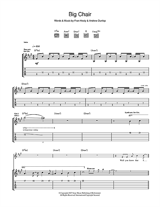 Big Chair Sheet Music