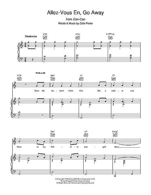 Allez-Vous En, Go Away Sheet Music