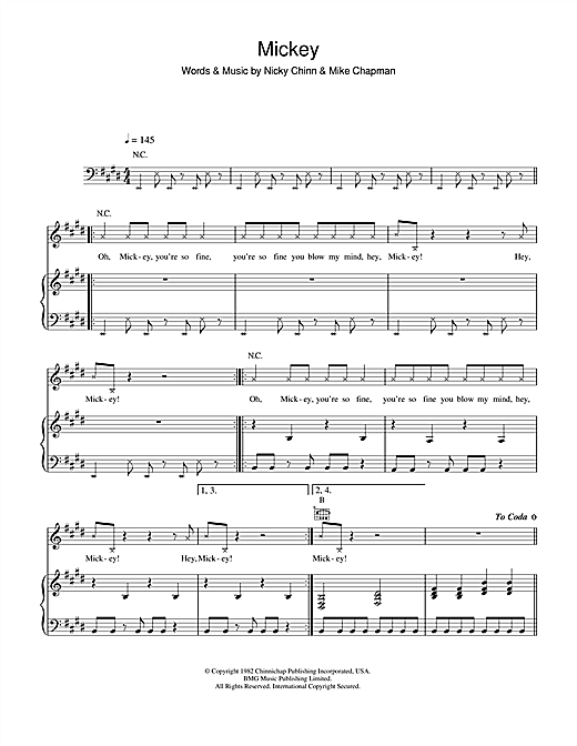 Mickey Sheet Music