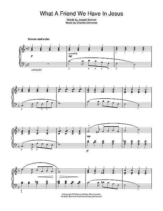 What A Friend We Have In Jesus Sheet Music