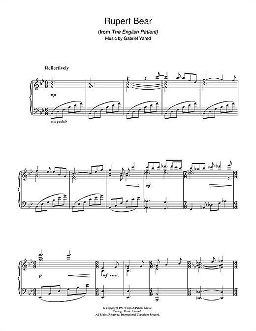 Rupert Bear (from The English Patient) Sheet Music