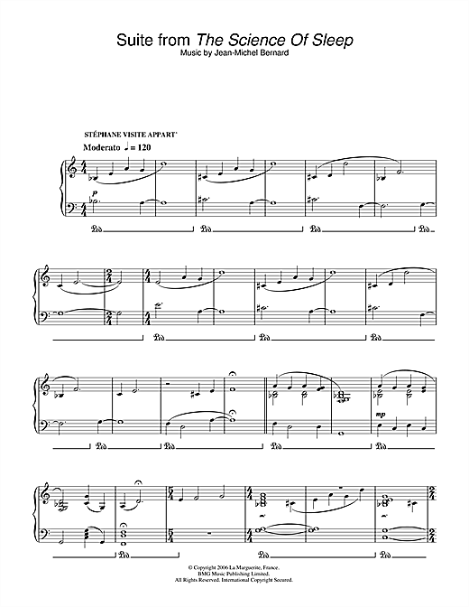 Suite (from The Science Of Sleep) Sheet Music