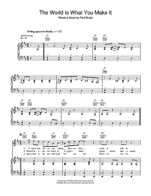The World Is What You Make It Sheet Music