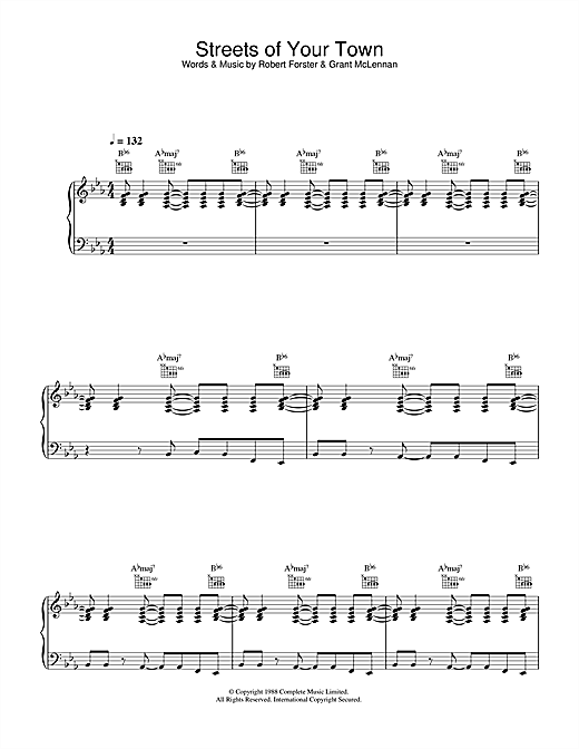 Streets Of Your Town Sheet Music
