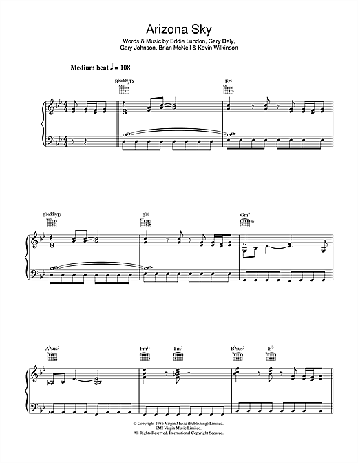 Arizona Sky Sheet Music