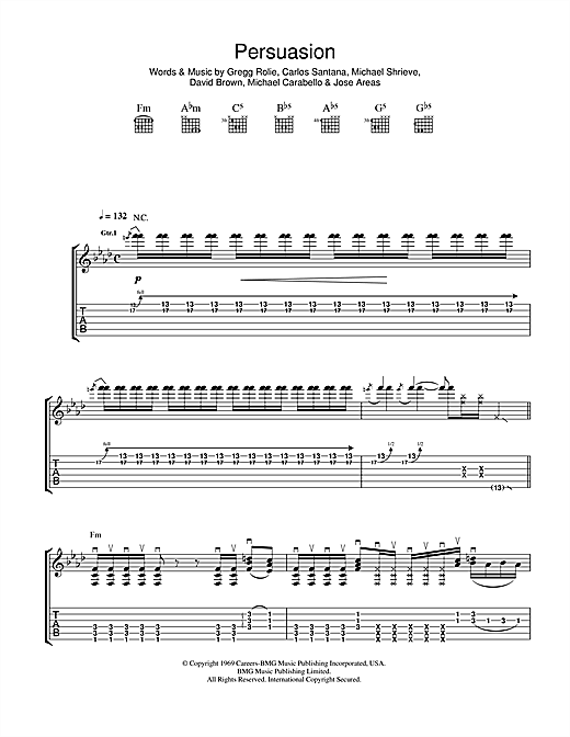 Persuasion Sheet Music