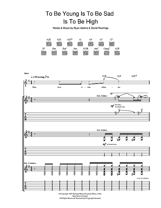 To Be Young (Is To Be Sad, Is To Be High) Sheet Music