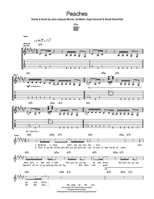 Peaches Sheet Music