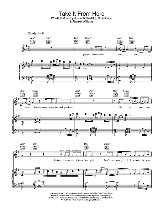 Take It From Here Sheet Music