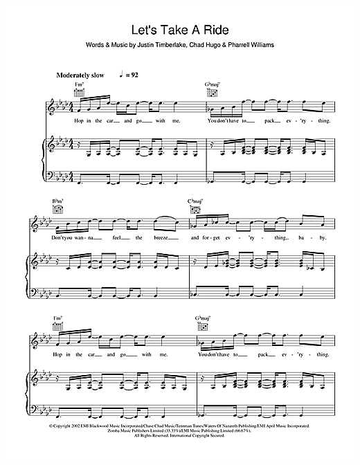 Let's Take A Ride Sheet Music