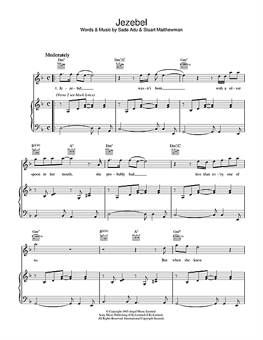Jezebel Sheet Music