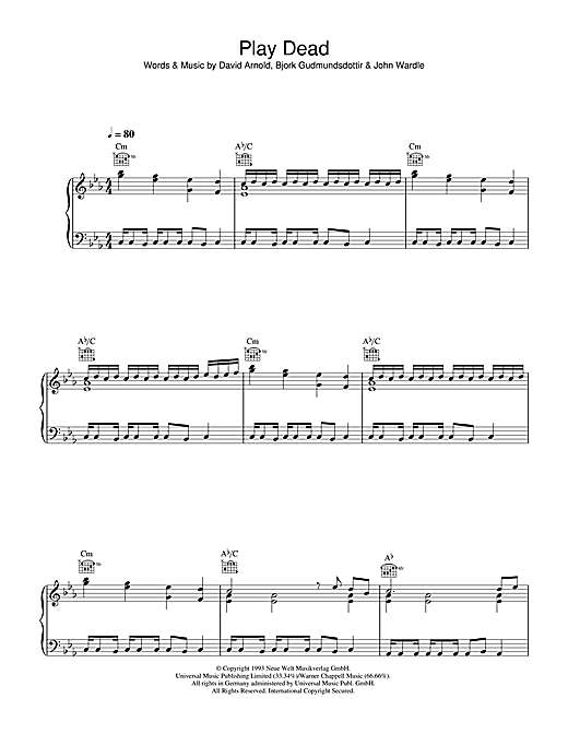 Play Dead Sheet Music