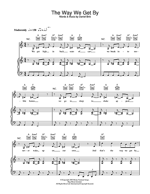 The Way We Get By Sheet Music