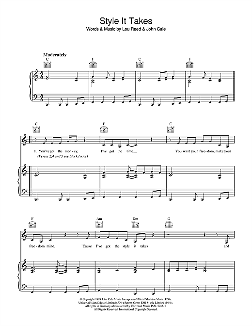 Style It Takes Sheet Music
