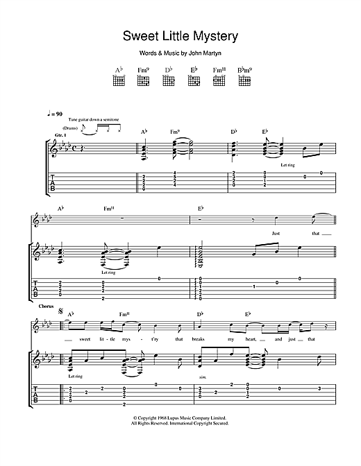 Sweet Little Mystery Sheet Music