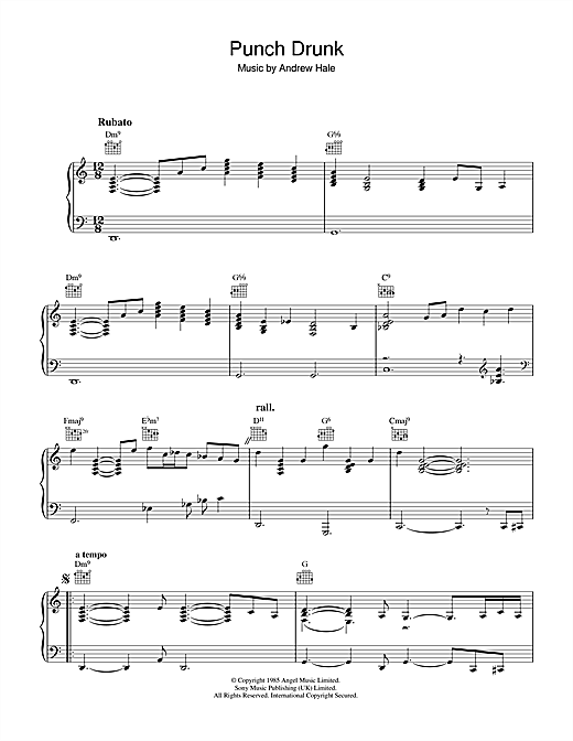 Punch Drunk Sheet Music