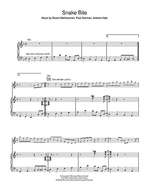 Snake Bite Sheet Music