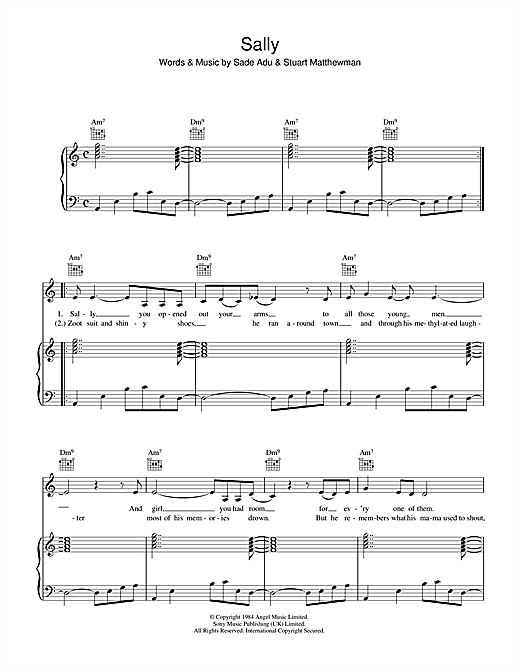Sally Sheet Music