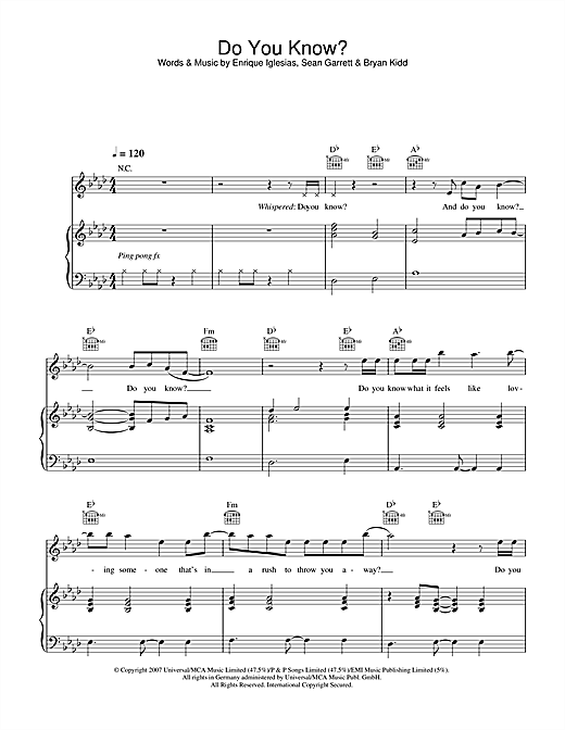 Do You Know? Sheet Music