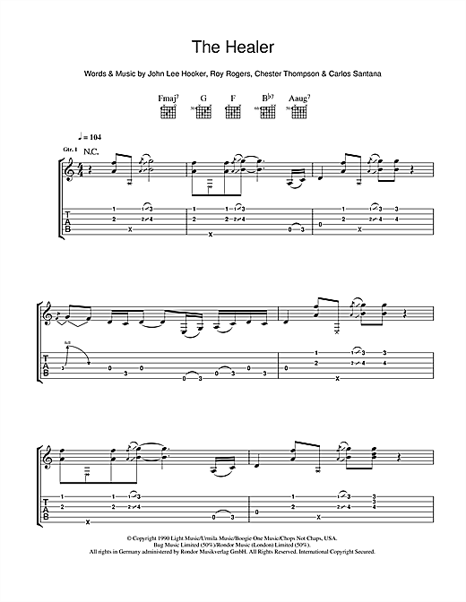 The Healer Sheet Music