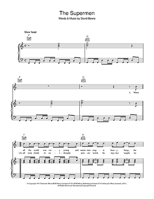 The Supermen Sheet Music