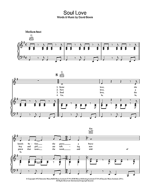Soul Love Sheet Music