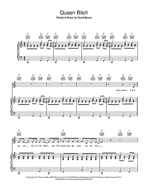 Queen Bitch Sheet Music