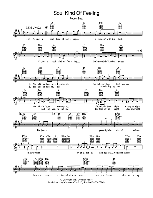 Soul Kind Of Feeling Sheet Music