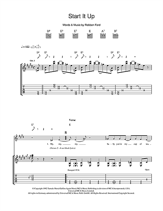 Start It Up Sheet Music