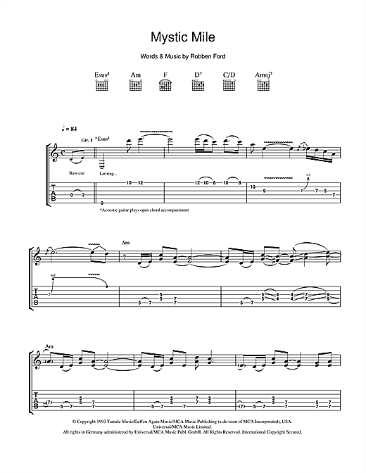 Mystic Mile Sheet Music