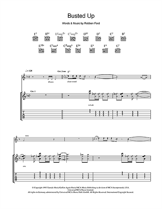 Busted Up Sheet Music