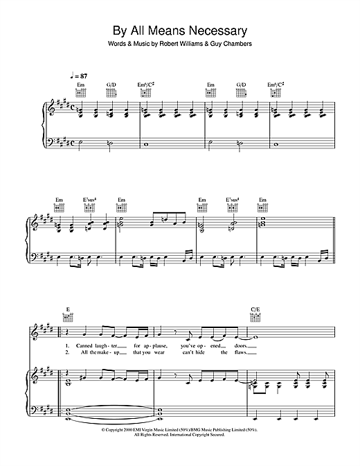 By All Means Necessary Sheet Music