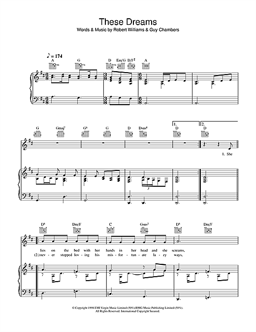 These Dreams Sheet Music