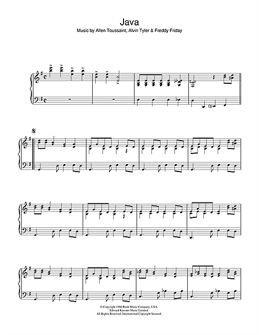 Java Sheet Music