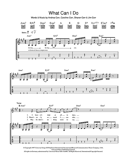 What Can I Do (Guitar Tab)