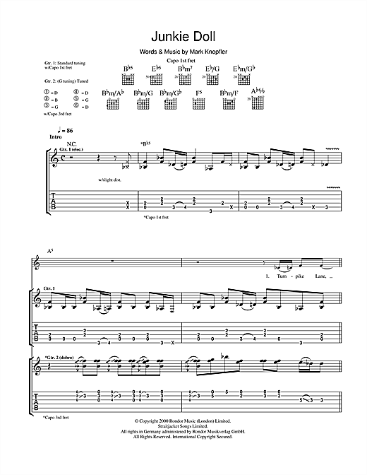 Junkie Doll Sheet Music
