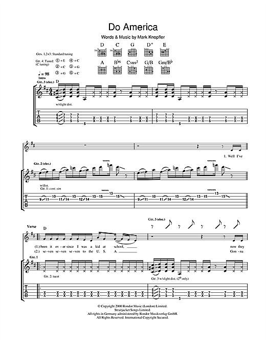 Do America Sheet Music