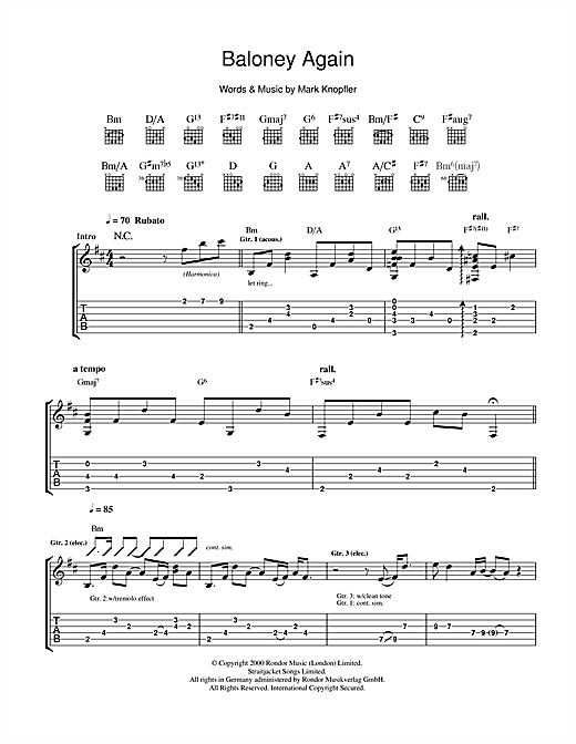 Baloney Again Sheet Music