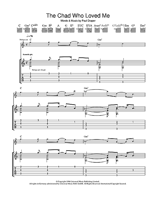The Chad Who Loved Me Sheet Music